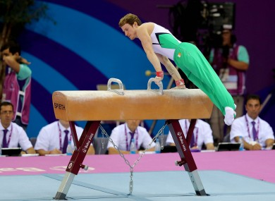 Ireland's Kieran Behan in action at the European Games.
