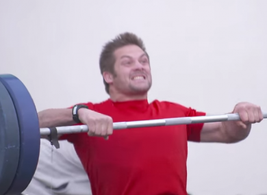 Richie McCaw got straight down to work in the gym.
