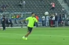 Look out Juventus, Luis Suarez just warmed up by scoring a volley from his own half