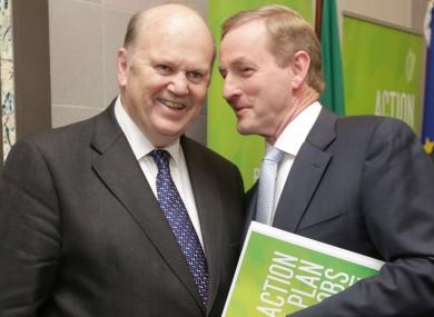 Finance Minister Michael Noonan and Taoiseach Enda Kenny