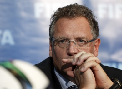 Valcke: was not involved in the