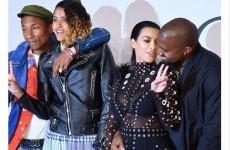 Pharrell saved Kim Kardashian from a burning dress – by jumping on her