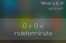 Listen to how sassy Siri gets when you ask her to divide zero by zero