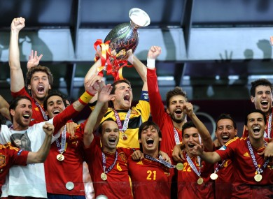 Spain have won the last two European Championships.