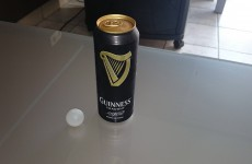 Someone cut the widget out of a can of Guinness because they thought it was a random ball