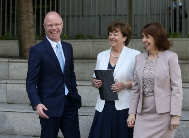 New Political Venture called Social Democrats with L TO Stephen Donnelly with Catherine Murphy and Roisin Shortall.