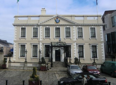 The Mansion House on Dawson Street in Dublin city centre
