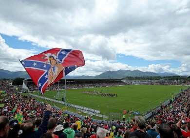 The flag was flown before Cork's Munster SFC final against Kerry earlier this month.