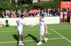 BOD shows up at Wimbledon and brings his gear along to take on Tim Henman