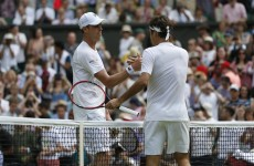 Roger Federer's unbelievable 'hot dog' lob has been a highlight of Day 4 at Wimbledon