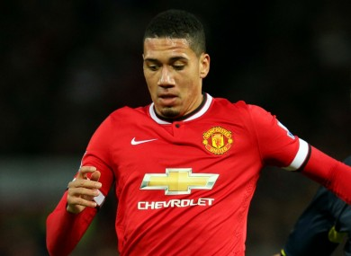 Manchester United defender Chris Smalling.