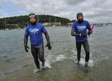 David Burns and Maghnus Collins are currently undertaking a round-Ireland swim.