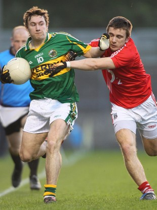 Wall, right, held O'Donoghue to just one point from play in the 2011 Munster U21 final.