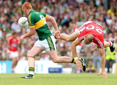 Alan O'Connor in action for Cork against Kerry in the 2013 Munster football final.