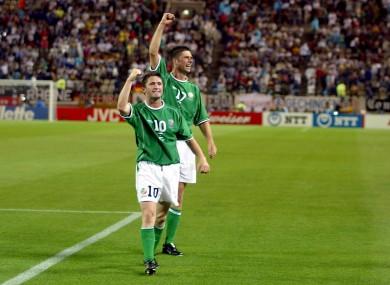 Robbie Keane has picked Niall Quinn as his favourite Ireland strike partner.
