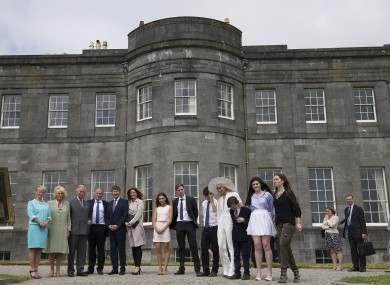 Prince Charles and his party, on a visit to Lissadell in May.