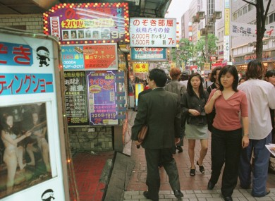 The Shinjuku district back in 1997.