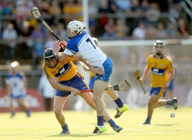 Clare's Shane Gleeson and Waterford's Shane Bennett.