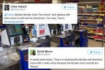 The 'bossy' problem: How Tesco's new checkout voice quickly turned into a sexism row