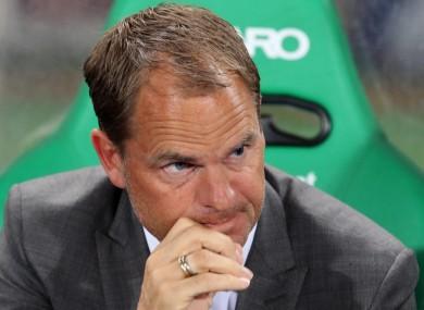 Ajax's coach Frank de Boer was not a happy man.