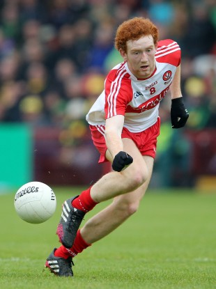 Conor Glass was part of the victorious Derry minor team today.