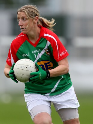 Mayo's Cora Staunton was in terrific form today.