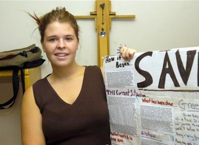 Kayla Mueller pictured in May 2013