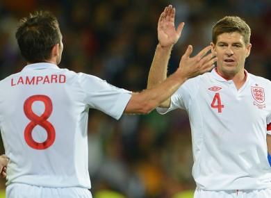 Frank Lampard (left) and Steven Gerrard