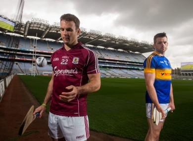 Collins, left, will be up against Padraic Maher and Tipp on Sunday.