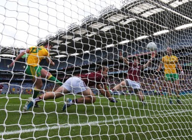 Paddy McBrearty scored Donegal's first goal after six minutes - but the Ulster men let Galway back into the game.