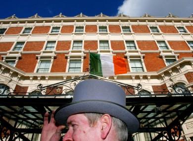 The doorman outside Dublin's Shelbourne Hotel