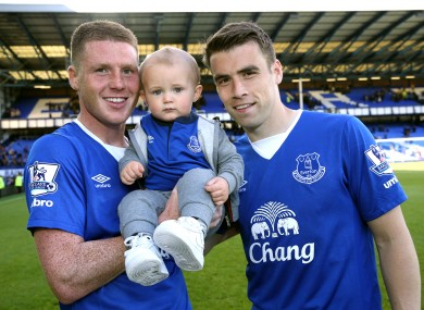 McCarthy has joined Seamus Coleman (right) in committing his long term future to Everton.