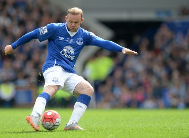 Rooney played 16 minutes of yesterday's game.