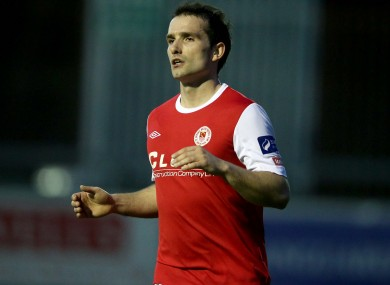 Christy Fagan was on target for St Pat's tonight (file pic).