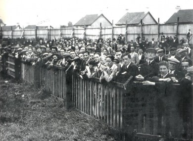 Crowds watching a training session at Turner's Cross (file pic).