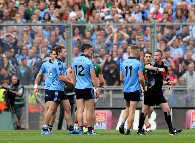 Connolly receives his marching orders.