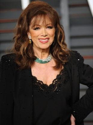 Jackie Collins at the Vanity Fair Oscar Party early this year.
