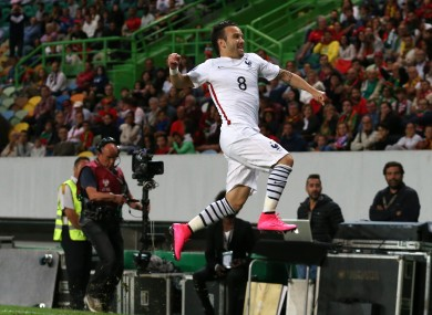 Valbuena celebrates his late winner.