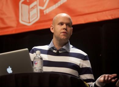 Spotify CEO Daniel ek at a SXSW conference keynote.