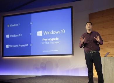 Terry Myerson during the announcement of Windows 10 back in January.