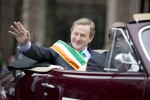 The Taoiseach travelling in a car that's not being pushed up a hill (We assume)