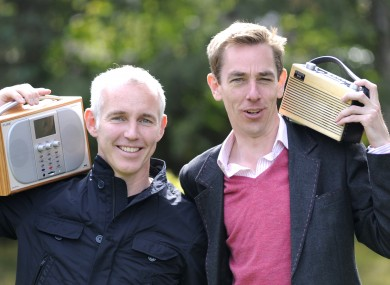 Tubs and D'Arcy. In happier times (as these captions always seem to say).