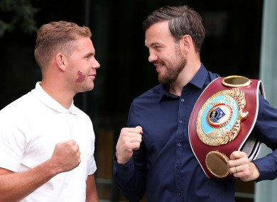 Billy Joe Saunders and Andy Lee.