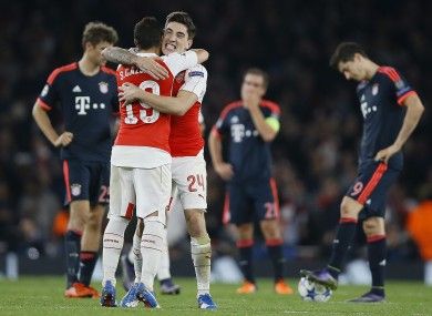 Arsenal won to give themselves a Champions League lifeline.