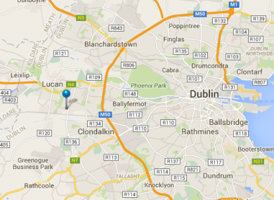 ESB map pinpointing the fault in Balgaddy, Dublin.