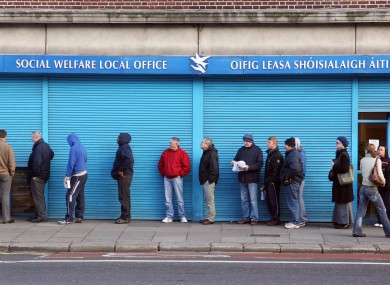CSO figures indicate some 36.7% of unemployed people are at risk of poverty.