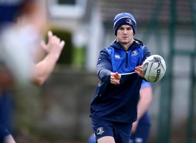 Johnny Sexton is back in Leinster blue this weekend.