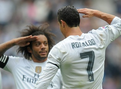 Real Madrid star Cristiano Ronaldo and Marcelo