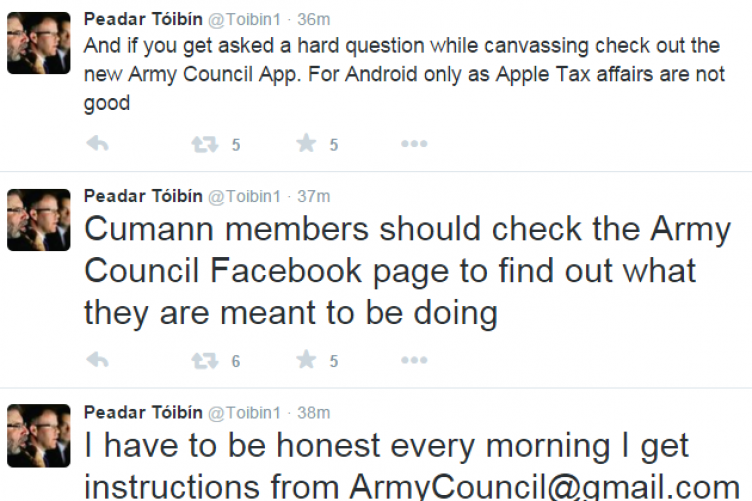 Sinn Fin Td Defends Sarcastic Tweets About Getting Instructions