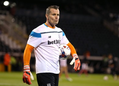 Shay Given picked up his injury in the Irish team's win over Germany.